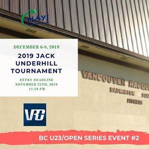 2019 Jack Underhill - BC U23Open Series Event 2