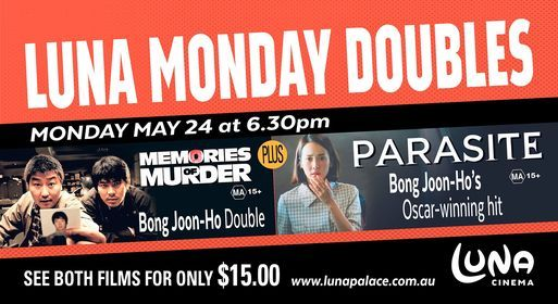 Monday Double: Memories of M**der + Parasite, 24 May | Event in Henley Brook | AllEvents.in