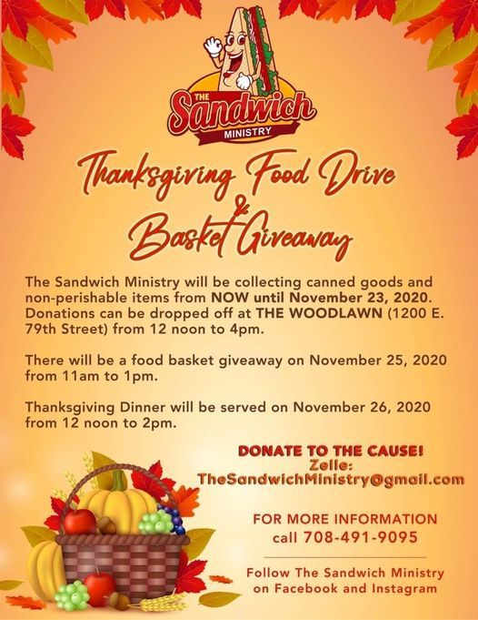 Thanksgiving Food Drive &  Basket Giveaway, 25 November | Event in Chicago | AllEvents.in