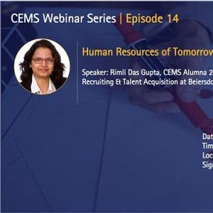 CEMS Webinar Series. Episode 14  HR of tomorrow