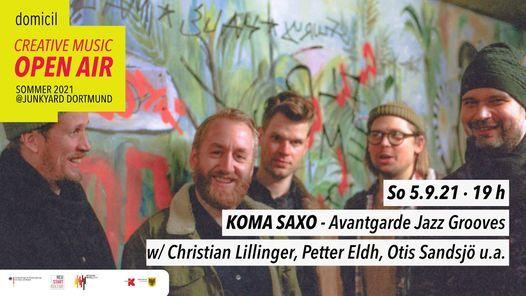 domicil Open Air @JUNKYARD: Koma Saxo, 5 September | Event in Dortmund | AllEvents.in