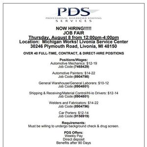 PDS Hiring Event