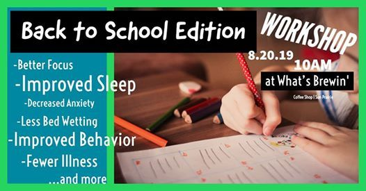 The Neuro Storm: Back to School Edition at What's Brew'n, Sun Prairie