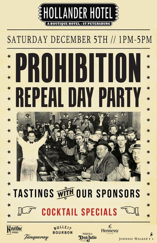Prohibition Repeal Day Party | Event in Saint Petersburg | AllEvents.in