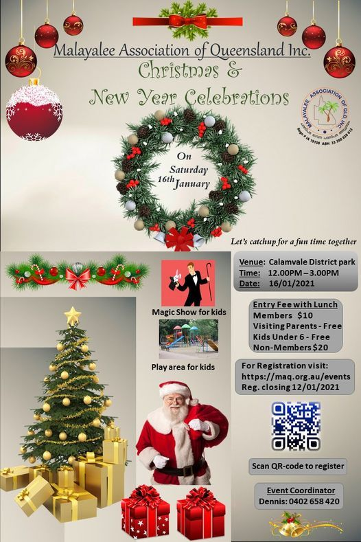 Christmas & New Year Celebrations, 16 January | Event in Calamvale | AllEvents.in