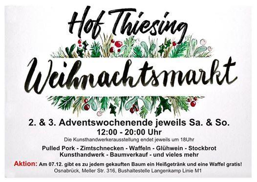 Weihnachtsmarkt Hof Thiesing