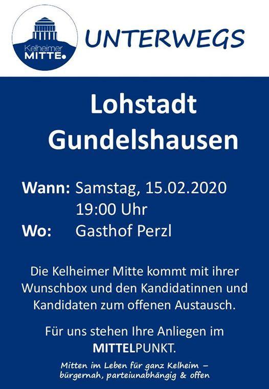 Kelheimer Mitte Unterwegs Lohstadt Gundelshausen Gasthof Perzl Kelheim February 15 2020 Allevents In