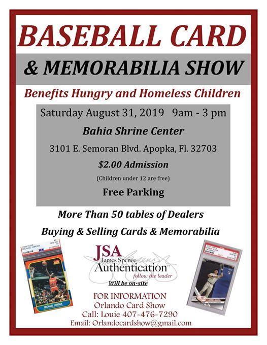 Orlando Card Show At Bahia Shriners Apopka