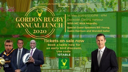 Gordon Rugby Annual Lunch 2020