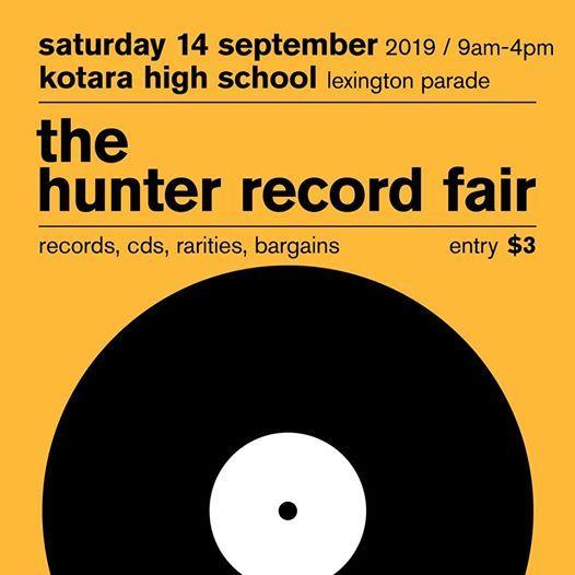 The Hunter Record Fair - Saturday 14 September 2019