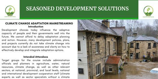Climate Change Adaptation Mainstreaming into Development, 24 May | Event in Nairobi | AllEvents.in