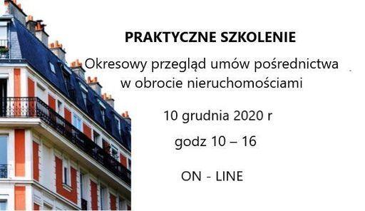 Okresowy przegląd umów pośrednictwa w obrocie nieruchomościami, 10 December | Event in Katowice | AllEvents.in