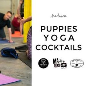 SOLD OUT Puppy Yoga  Cocktails at Old Sugar Distillery