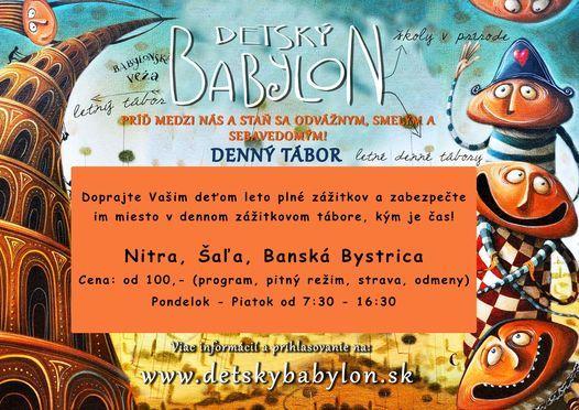 Denný letný tábor v Nitre, 5 July   Event in Nitra   AllEvents.in