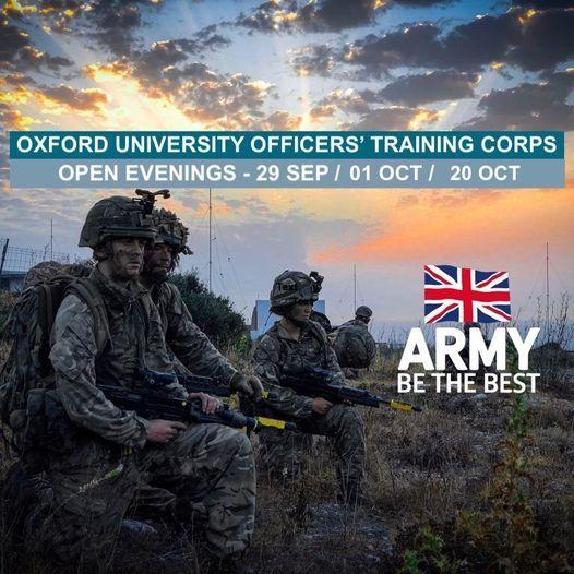 Oxford UOTC Open Evenings 2020