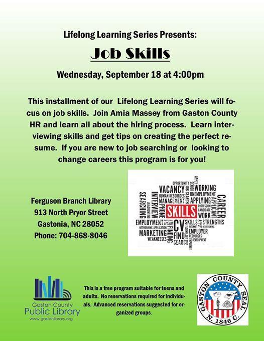 Lifelong Learning Series: Job Skills at Ferguson Branch