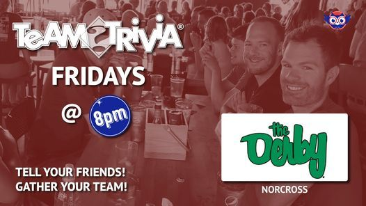 Team Trivia at The Derby Sports Bar in Nocross, 16 April | Event in Norcross | AllEvents.in