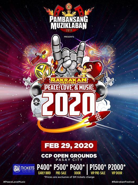 Rakrakan Festival 2020 Peace Love & Music