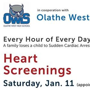 Heart Screenings & CPR training at Olathe West HS