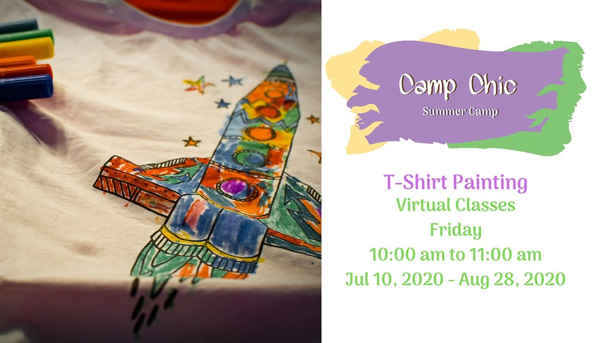 Virtual Summer Camp T-Shirt Painting