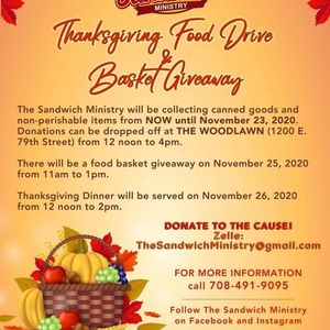 Thanksgiving Food Drive &  Basket Giveaway