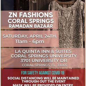 ZN Fashions Coral Springs FL. Ramadan Bazaar