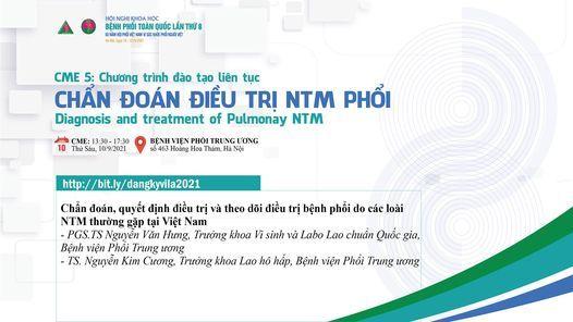 CME 5 - Chẩn đoán điều trị NTM phổi, 10 September   Event in Hanoi   AllEvents.in