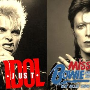 David Bowie & Billy Idol - live music charity double header