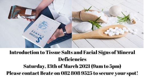 Introduction to Tissue Salts, 13 March | Event in Roodepoort | AllEvents.in