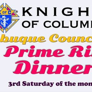 KofC Prime Rib Dinner - Knights of Columbus Council 510