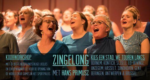 Zingelong koorworkshop  Hasselt