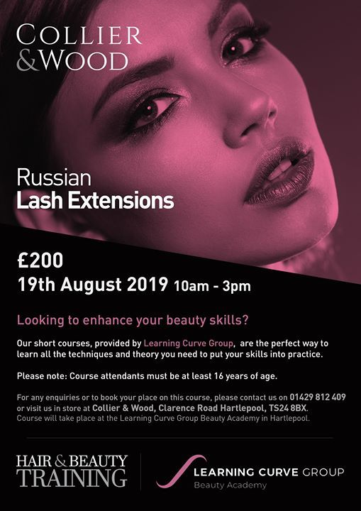 Russian Lashes Beauty Course - 19th August at Collier & Wood