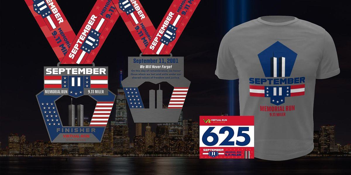 September 11 Memorial Virtual Run Walk (9.11 Miles) - Worcester