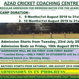 ACCC Mumbai Regular Admission for Weekend Batch 2019-2020