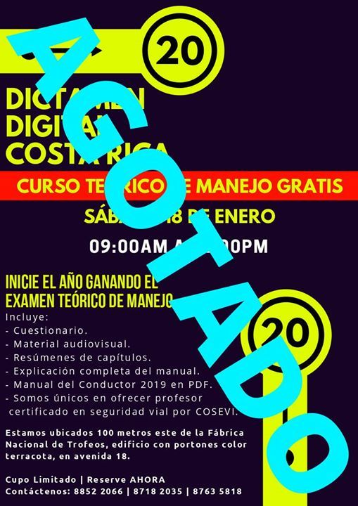 Curso Teórico De Manejo Gratis At Dictamen Digital Costa