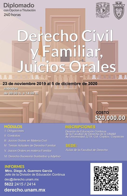 Derecho Civil Y Familiar Juicios Orales At Facultad De