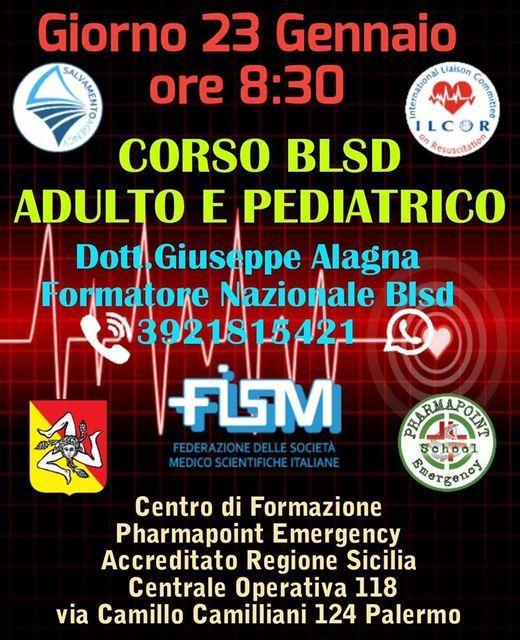 Corso Blsd Adulto e Pediatrico, 23 January | Event in Palermo | AllEvents.in