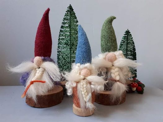 FULLY BOOKED Needle Felted Nordic Tomtes with Loubilou