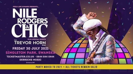 Nile Rodgers & CHIC | Singleton Park Swansea, 30 July | Event in Swansea | AllEvents.in