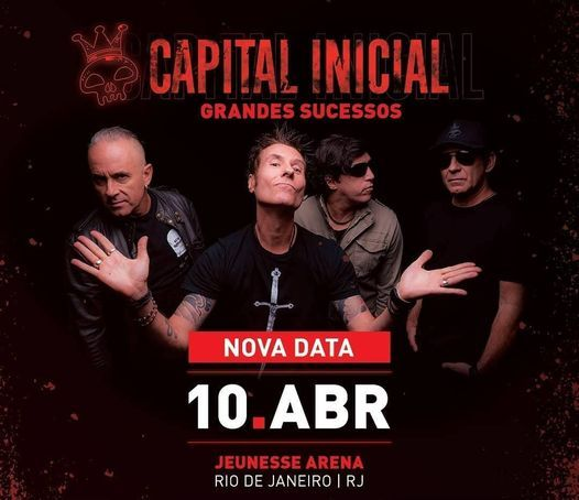 Capital Inicial na Jeunesse Arena, 10 April | Event in Palmas | AllEvents.in