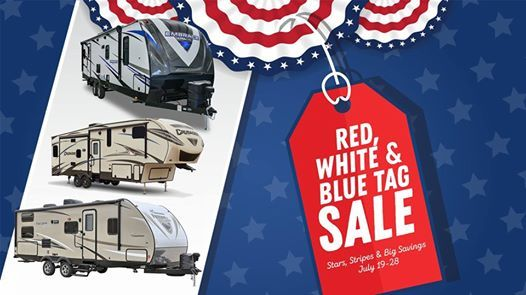 Red White And Blue Auto Sales >> Red White And Blue Tag Sale At Campers Inn Rv Merrimack