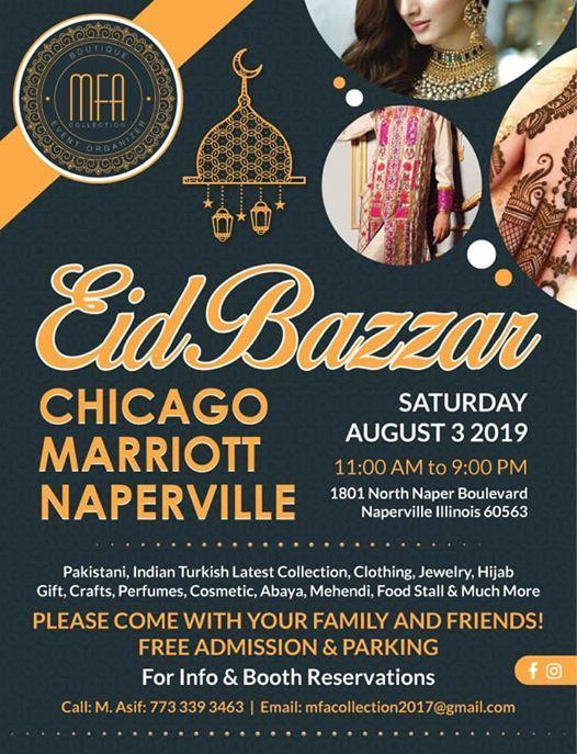 Eid Bazzar Napville Illinois at Chicago Marriott Naperville, Naperville