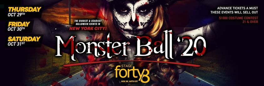 New York Halloween Party 27th Oct 2020 The Monster Ball 2020   NYCs Biggest Halloween Weekend Parties