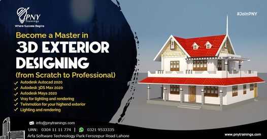 Become a Master in 3D Exterior Designing (from Scratch to Professional) | Event in Lahore | AllEvents.in