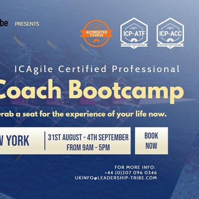 Agile Coach Bootcamp (ICP-ATF & ICP-ACC)  New York - August 2020