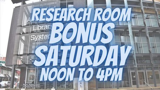 Roberts Library Research Room Bonus Saturday, 31 July   Event in Little Rock   AllEvents.in