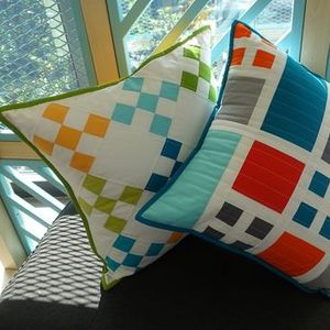 Quilted Pillows - Squares & Triangles