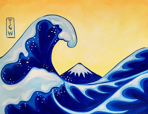 Paint & Wine Night - The Great Wave