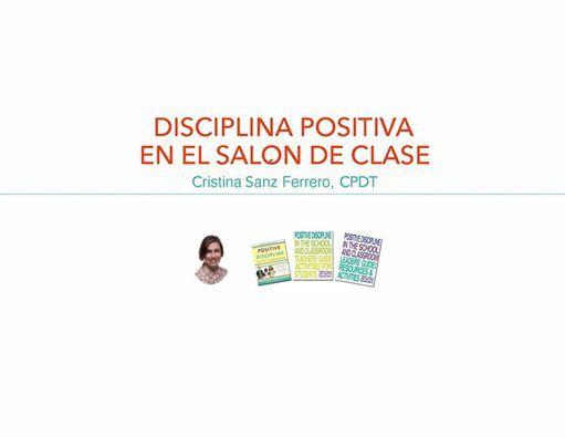 Disciplina Positiva en el saln de clase