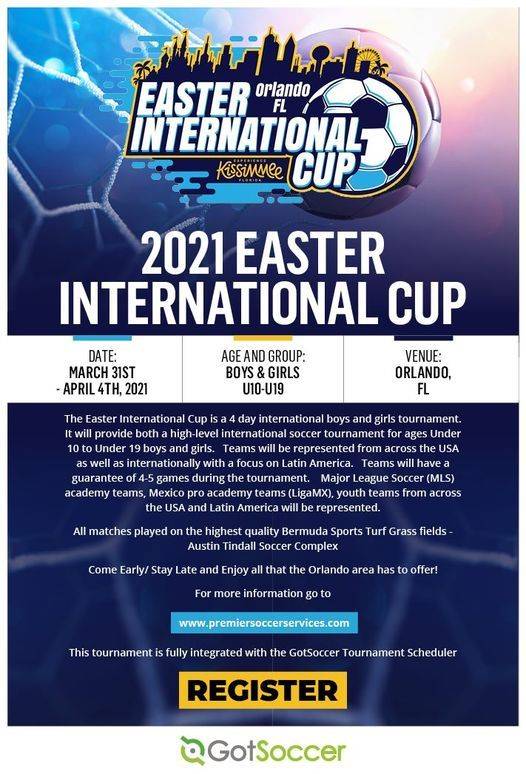 2021 Easter International Cup, 31 March | Event in Davenport | AllEvents.in